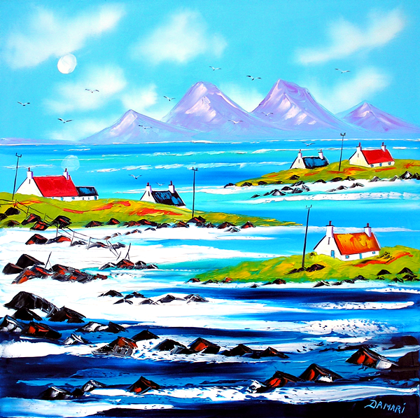 Colonsey looking towards the papps of Jura 60x60